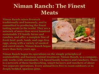 Niman Ranch | Traditional Family Farms