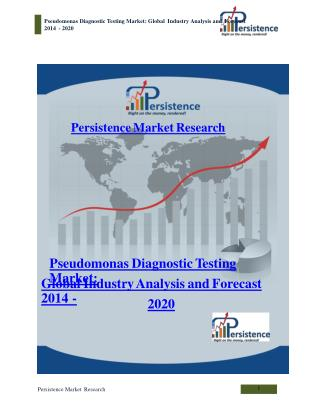 Pseudomonas Diagnostic Testing Market: Global Industry Analy