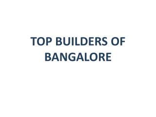 Buy Residential Property with Top Builders of Bangalore