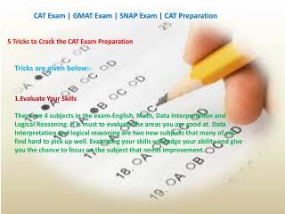 5 Tricks to Crack the CAT Exam Preparation