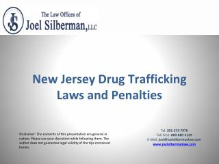New Jersey Drug Trafficking Laws and Penalties