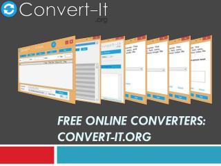 Free Online Converters Convert-it.org