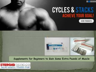 Supplements for Beginners to Gain Some Extra Pounds of Muscl