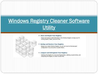 Windows Registry Cleaner Software Utility