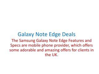 Galaxy note edge deals