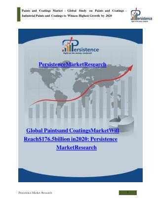 Global Paints and Coatings Market to 2020