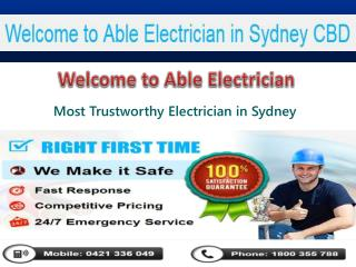 24 Hour Electrician in Sydney