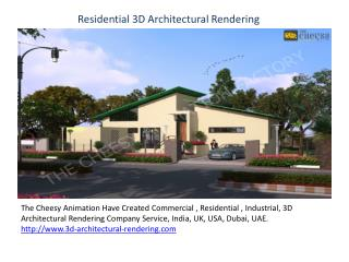 3D Architectural Rendering | Service Company