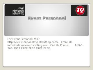 Event Personnel