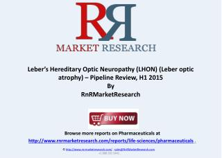 Leber optic atrophy Pipeline Review, H1 2015