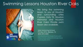 Swimming Lessons Classes Houston River Oaks
