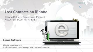 Lost contacts on iPhone-How to Retrieve Contacts on iPhone 6