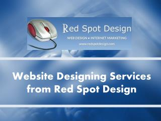 Website Designing Services from Red Spot Design