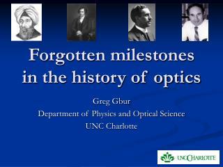 Forgotten milestones in the history of optics
