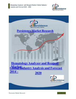 Global Hematology Analyzer and Reagent Market to 2020