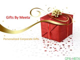 Personalized corporate gifts through giftsbymeeta
