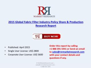 Global Fabric Filter Market 2015 Applications and Consumptio