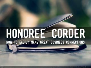 Make Powerful Business Connections – with Honorée Corder