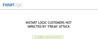 Instart Logic Customers not Impacted by 'FREAK' Attack