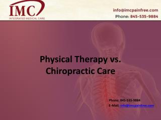Physical Therapy vs. Chiropractic Care