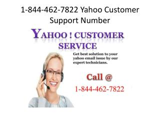 Call@ 1-844-462-7822 Yahoo Customer Support Number