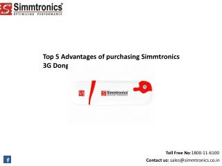Top 5 Advantages of purchasing Simmtronics 3G Dongle