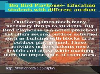 Big Bird Playhouse Preschool For Childrens