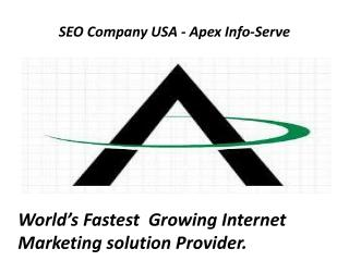 World's Fastest Growing Internet Marketing solution Provider