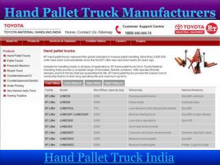 Hand Pallet Truck Manufacturers