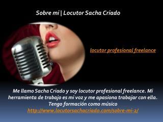 Locutor Profesional Freelance