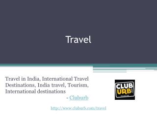 Travel in India - Cluburb