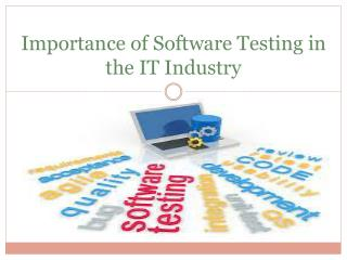 Importance of Software Testing in the IT Industry