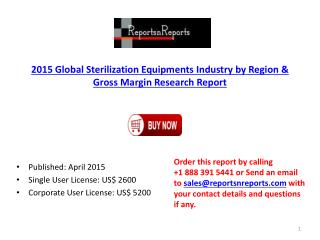 Global Sterilization Equipments Industry Production & Classi
