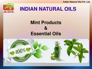 Natural Mint Products and Essential Oils
