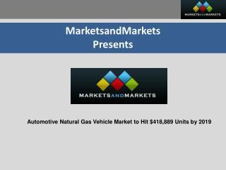 Automotive Natural Gas Vehicle Market