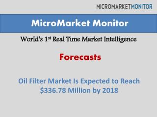 Oil Filter Market Is Expected to Reach $336.78 Million by 20