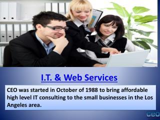 Ceo computers  - IT services Encino, IT support in Los Angel