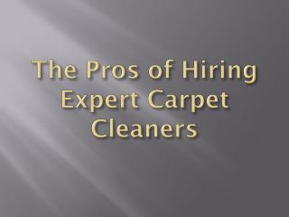 The Pros of Hiring Expert Carpet Cleaners