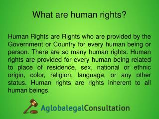 What does Human rights lawyer? -  Aglobalegalconsultation.co