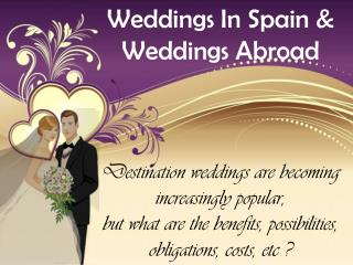 Planning A Wedding Abroad | Wedding Packages Abroad Prices