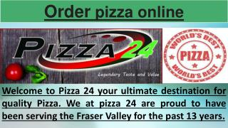 Pizza Abbotsford Delivery