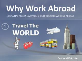 Abroad Jobs, Work Abroad | Desi Jobs USA