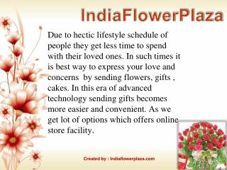 Send various types of flowers to india