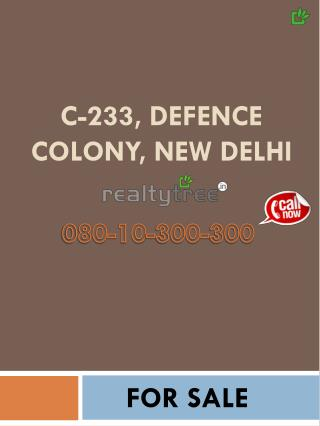 Independent Ground Floor for sale in Defense Colony