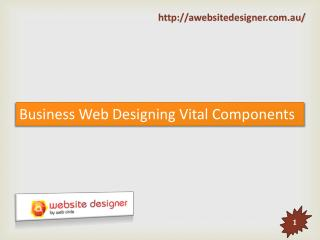 Business Web Designing Vital Components