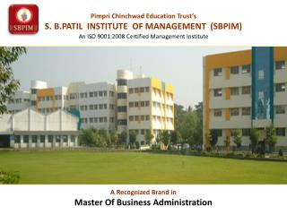 SBPIM - MBA College In Pune