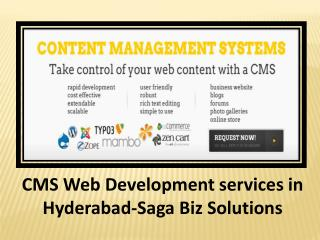 CMS Web Development Services in Hyderabad-SagaBiz Solutions