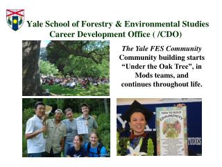 Yale School of Forestry  Environmental Studies  Career Development Office
