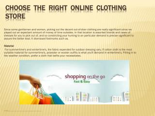 Choose the Right Online Clothing Store