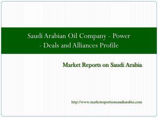 Saudi Arabian Oil Company - Power - Deals